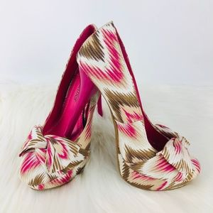 Just Fab Womens Pink Shoes Heels 725-S